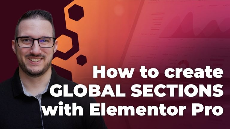 how to create global sections with elementor pro
